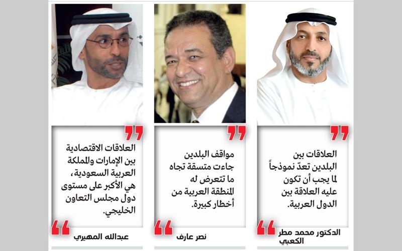 الصورة: الإمارات والسعودية.. علاقة تاريخية متجددة سطرتها دماء الشهــداء