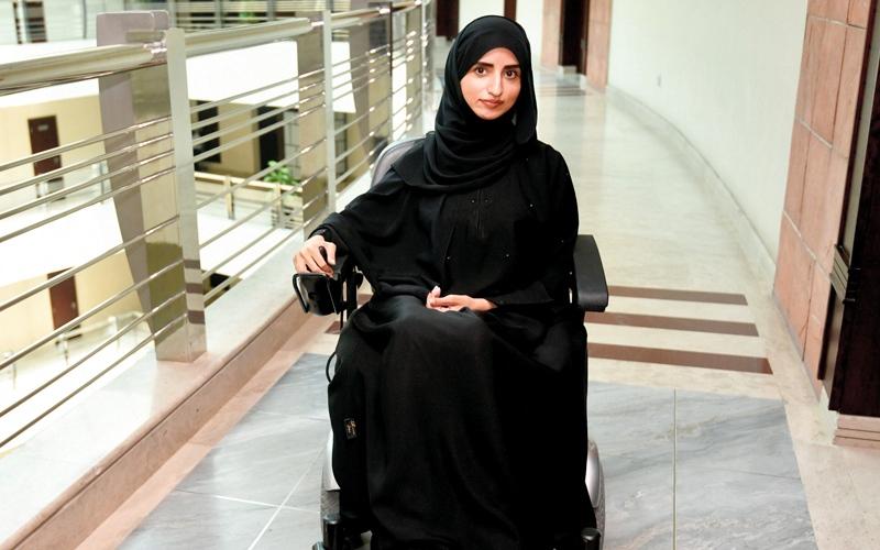 الصورة: مريم الدبيلي: الإعاقة تعني صعوبات حياتية بشكل يومي