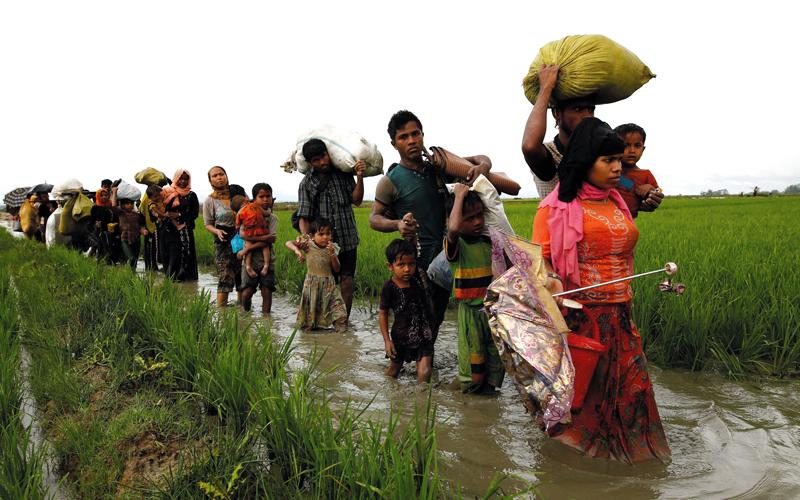 الألغام التي زرعها الجيش البورمي حصدت أرواح كثير من أبناء الروهينغا أثناء رحلة النزوح.  أرشيفية
