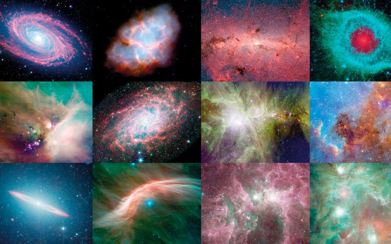 Spitzer Space Telescope.. لعرض صور للفضاء بالأشعة تحت الحمراء