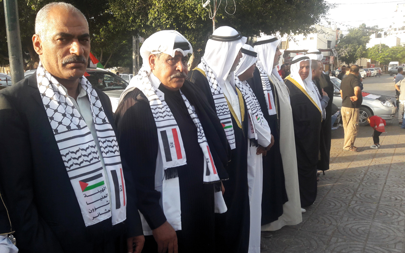 شيوخ العشائر اعربوا عن امتنانهم لمصر على ما قدمته وتقدمه لفلسطين.  الامارات اليوم