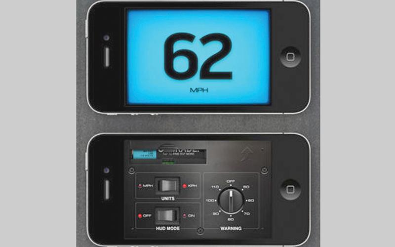 التطبيق ينبّه المستخدم عند تجاوز السرعة المحددة. من المصدر