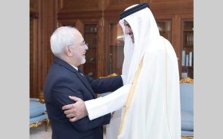 الصورة: تميم يستقبل ظريف.. و79% من القطريين معارضون لسياسات إيران الإقليميــة