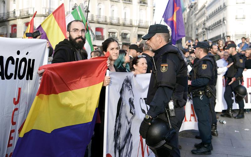 الكتالونيون لم يحظوا بدعم الدول الأوروبية لتحقيق هدفهم في الانفصال عن إسبانيا. أ.ف.ب