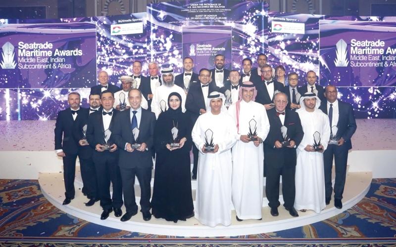 الصورة: حصة بنت أحمد آل مالك تفوز بجائزة شخصية العام في «سيتريد للقطاع البحري»