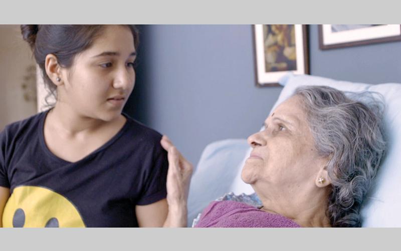 مشهد من فيلم «آنو وآجي».  من المصدر