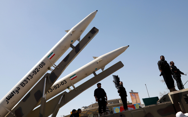 الاتفاقية النووية مع إيران لم تتطرق إلى تطويرها الصواريخ البالستية. أ.ف.ب