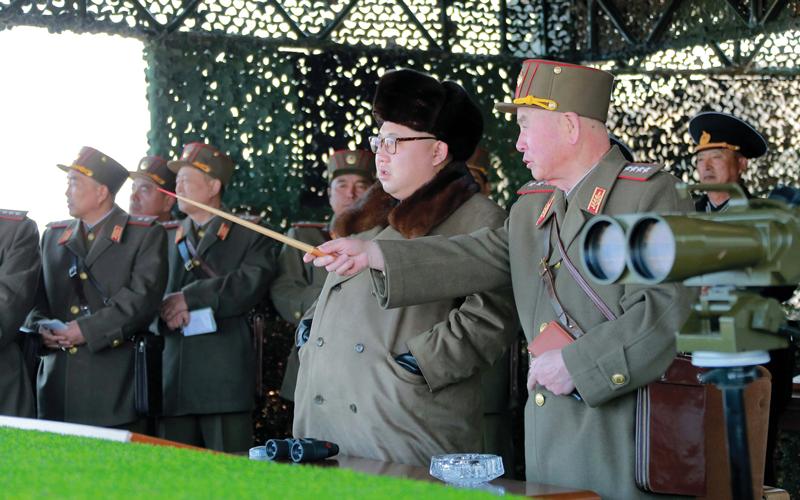كيم أون يواصل استفزازه للصين.  رويترز