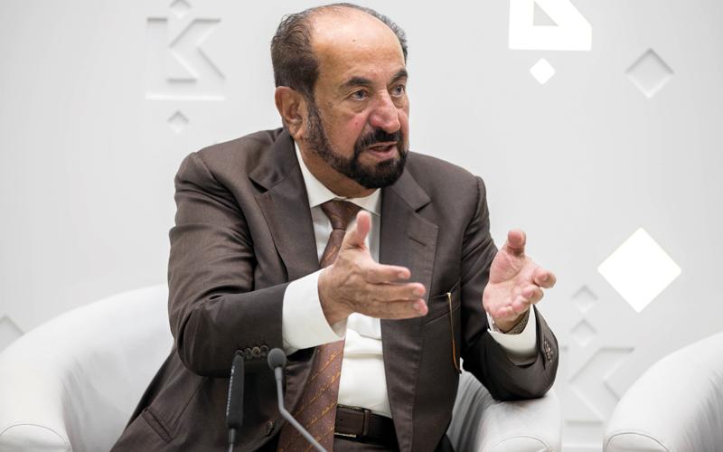 حاكم الشارقة أكّد أن الإمارة بمؤسساتها تعمل مع الفرد منذ صغره.الإمارات اليوم