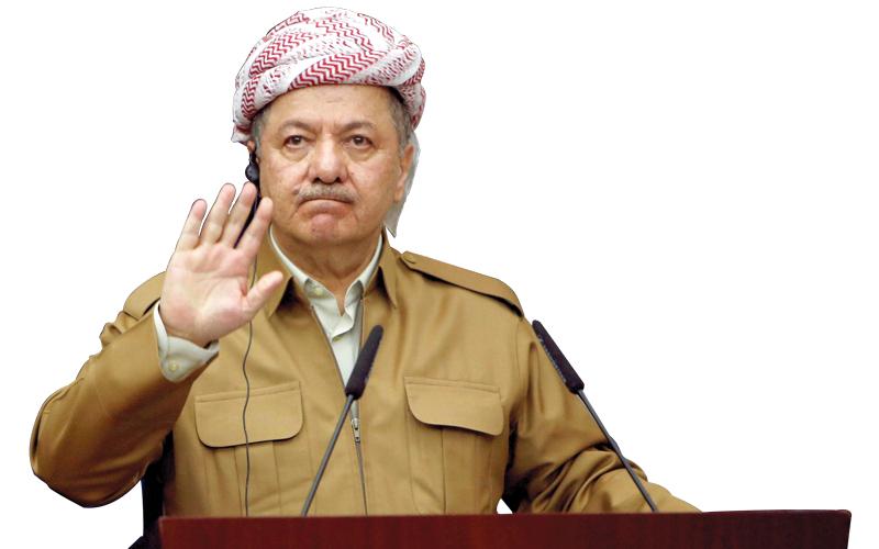 الزعيم الكردستاني مسعود البرزاني دفع ثمناً كبيراً لقاء الاعتماد الكلي على تركيا. رويترز