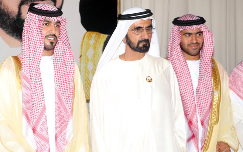 محمد بن راشد يحضر أفراح قبيلتي  الهاجري والحربي