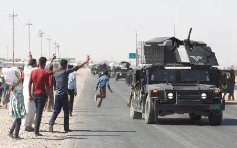 الصورة: الجيش العراقي يسيطر على مواقع مهمة في كركوك