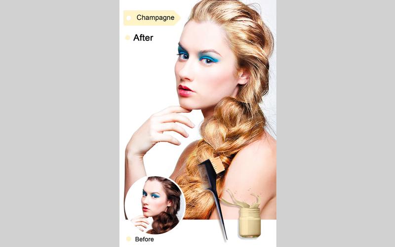 Hair Color Dye.. للمساعدة في تغيير لون الشعر بطريقة رقمية
