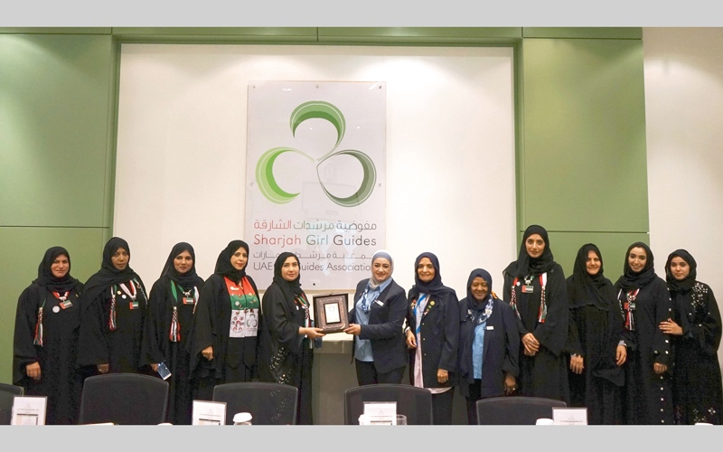 الصورة: جواهر القاسمي تدعو إلى دعم الحركة الإرشادية في الإمارات