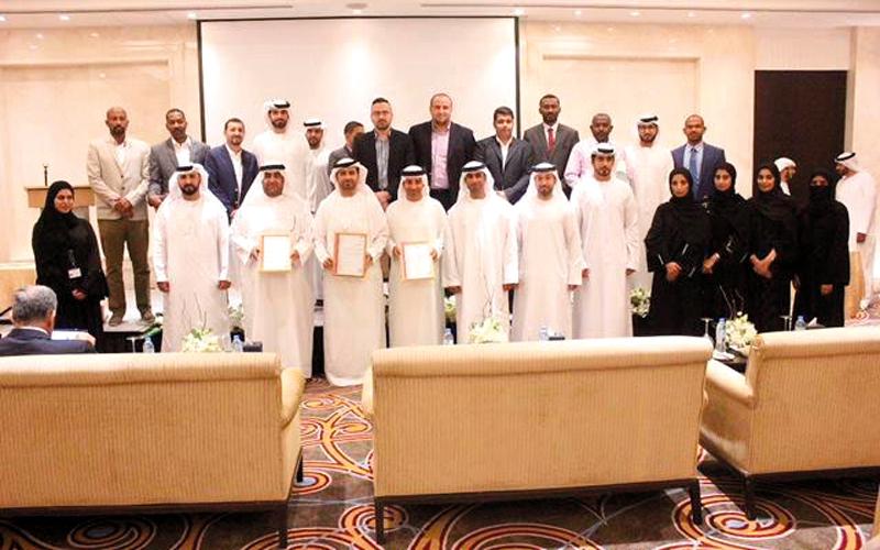 سالم النقبي يتسلّم شهادات الجودة الثلاث لبلدية الحمرية