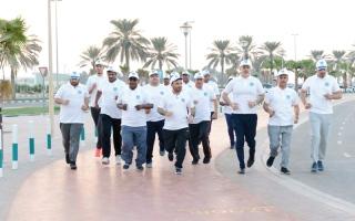الصورة: «دبي للقرآن الكريم» تشارك في مبادرة «تحدي دبي للياقة»