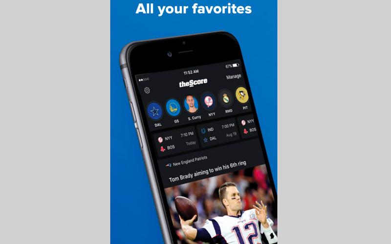 theScore: Sports News & Scores.. لعرض الأخبار الخاصة بأشهر الرياضات العالمية