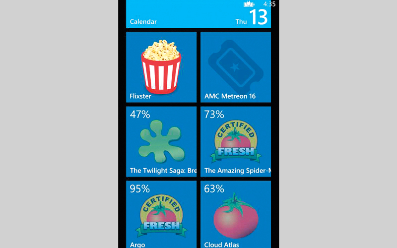 التطبيق يسمح بالبحث عن الأفلام وفقاً لعناوينها. من المصدر