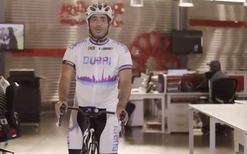 الصورة: بالفيديو.. اعلاميون يشاركون في تحدي دبي للياقة