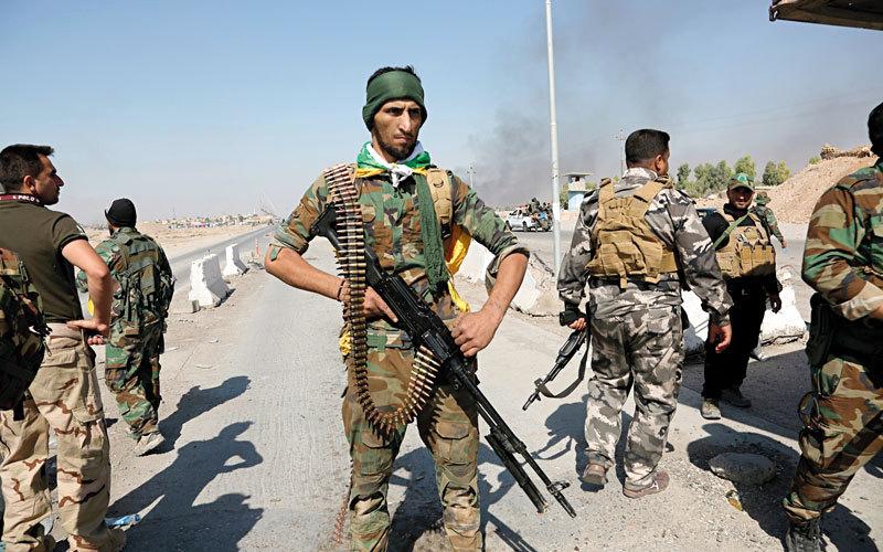 قوات الحشد الشعبي تشارك في العمليات ضد البشمركة،  ا ب
