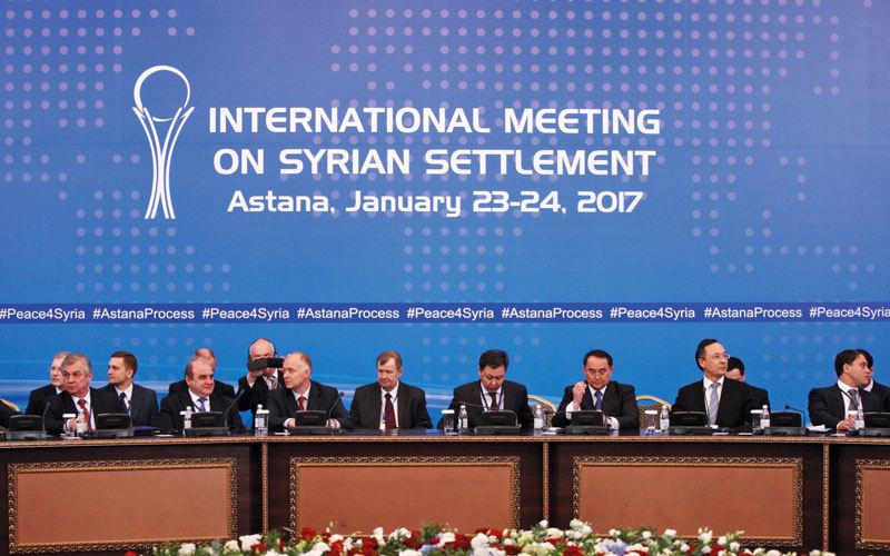 حققت مفاوضات السلام المعروفة باسم «عملية أستانة» بعض النجاح بين المعارضة والنظام في سورية. أرشيفية