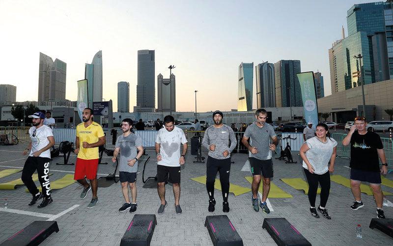 صالات رياضية مؤقتة مجانية شريكة في «تحدي دبي للياقة»