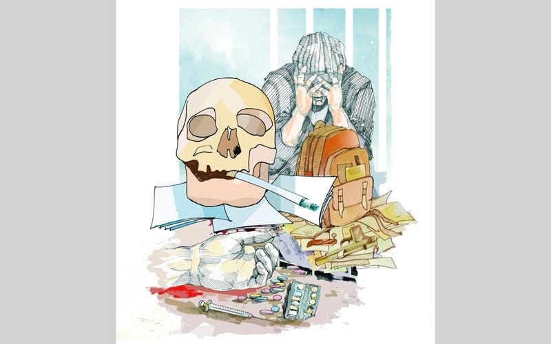 الصورة: تحقيق..«الوطني للتأهيل»: سن تعاطي المخدرات انخفضت إلى 13 سنة