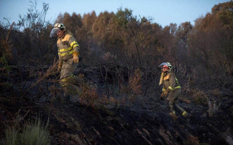 سكان المناطق الإسبانية المنكوبة بالحرائق يتضامنون لدرء الكارثة