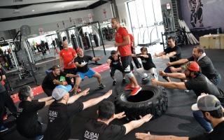 الصورة: أمناء «الرياضة» يشاركون في «ساعة تحدي»