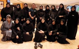 الصورة: فريق الشرطة النسائية في رأس الخيمة يقبل «تحدي دبي للياقة»