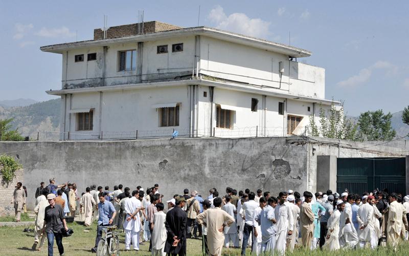 منزل بن لادن بمدينة بوت آباد الباكستانية حيث قتلته القوات الأميركية وصادرت وثائقه. أ.ف.ب