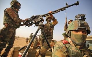 الصورة: القوات العراقية تبدأ عمليات تحرير قضاء راوة من «داعش»