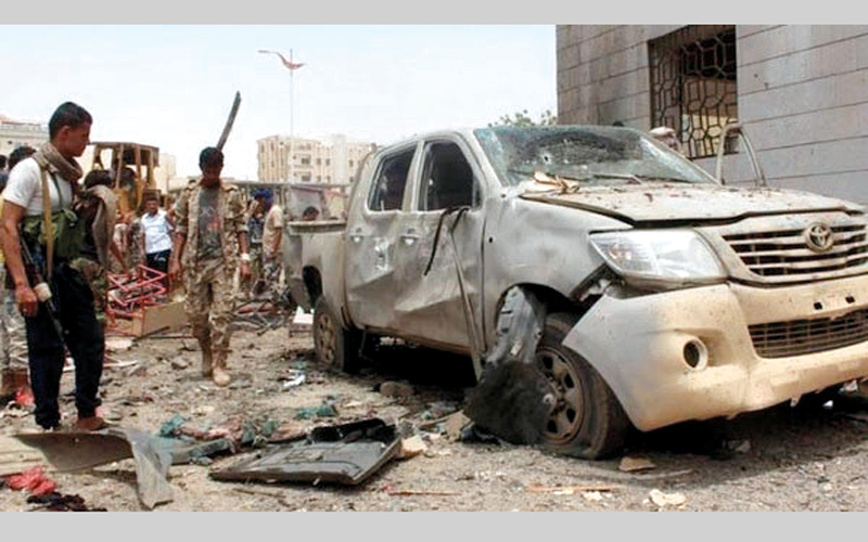 أحد التفجيرات التي شهدتها عدن. أرشيفية