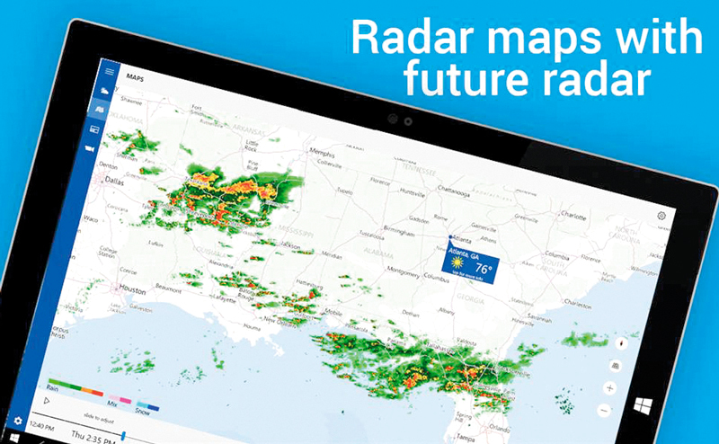 The Weather Channel.. لمعرفة   حالة الطقس
