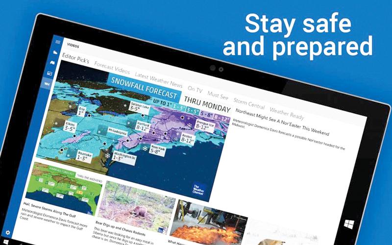 التطبيق يستطيع التنبؤ بحالة الطقس حتى 15 يوماً. من المصدر