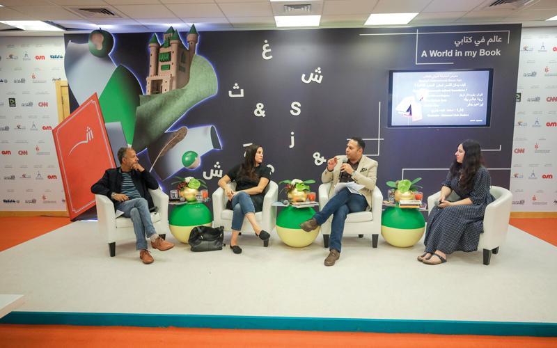 من اليسار: إبراهيم جابر وكيران ميلود ومحمد عبده وزينة هشام بيك.  من المصدر