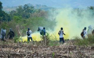 الصورة: السكان الأصليون في كولومبيا يحاربون من أجل أراضيهم