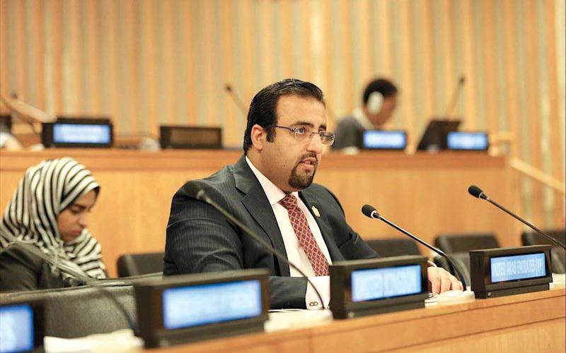 الشامسي يدلي ببيان الدولة أمام مؤتمر الأمم المتحدة لإعلان التبرعات للأنشطة الإنمائية. وام