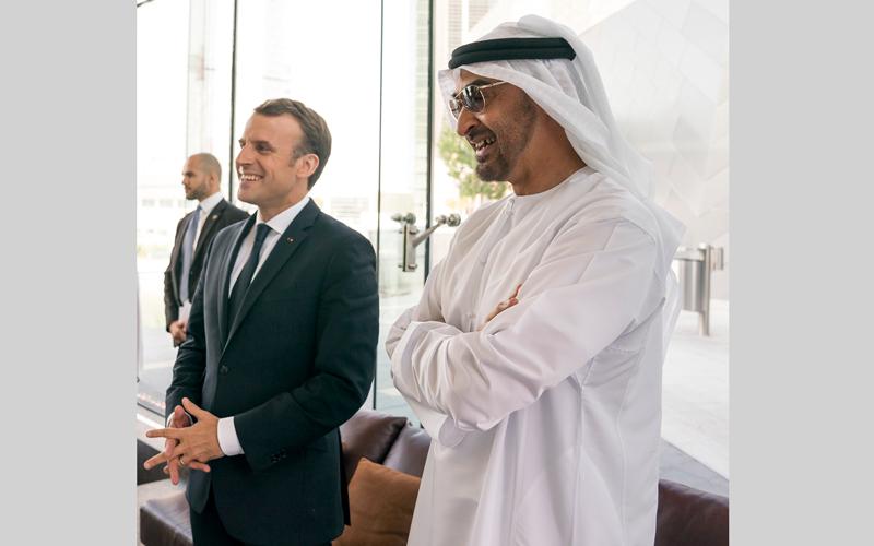 محمد بن زايد: علاقة الإمارات بفرنسا قوية ومتينة وتاريخية