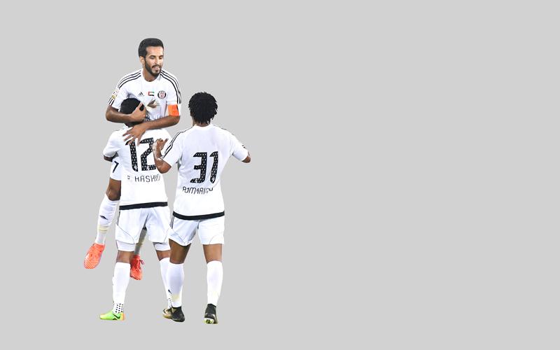 علي مبخوت قاد الجزيرة إلى الفوز على النصر. تصوير: أسامة أبوغانم