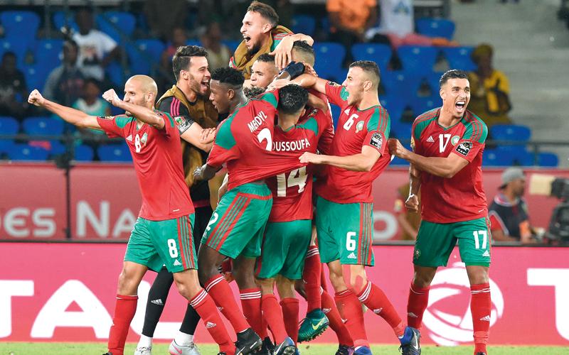 المنتخب المغربي يتطلع إلى فرحة الظهور المونديالي اليوم بعد غياب طويل. أ.ف.ب