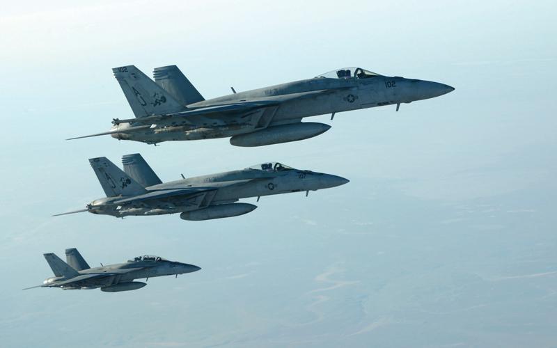القوة الجوية الأميركية المشاركة  في ضرب «داعش» أسهمت في القضاء على التنظيم سريعاً. أ.ب