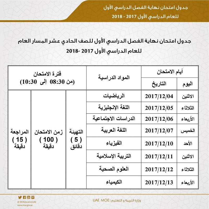 تعرف إلى مواعيد امتحانات الفصل الدراسي الأول للصفوف (1 - 12)