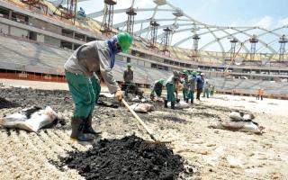 الصورة: مركز أوروبي يقرع جرس إنذار سوء أوضاع العمال في قطر