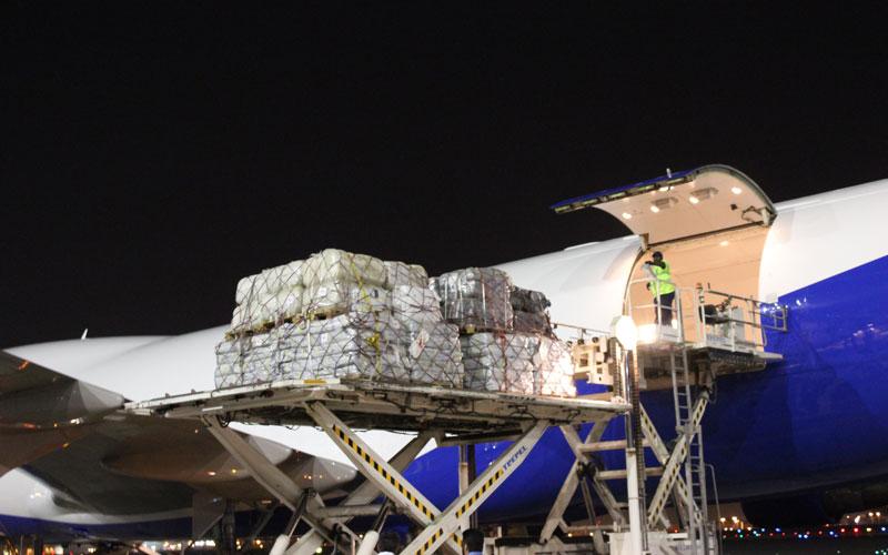 طائرة المعونات التاسعة للاجئي الروهينجا تغادر دبي إلى بنجلاديش محملة بـ91 طن من المساعدات