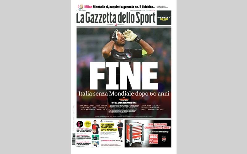الصورة: صحف إيطاليا: «إهانة ونهاية عالم»