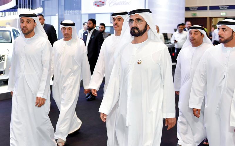 محمد بن راشد: «دبي للسيارات» يشكل دعماً لصناعة السياحة في الإمـارات