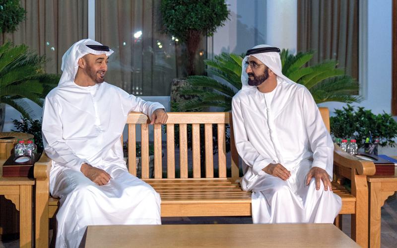محمد بن راشد ومحمد بن زايد يؤكدان أهـمية الحفاظ على مكانة الدولة وسمعتها