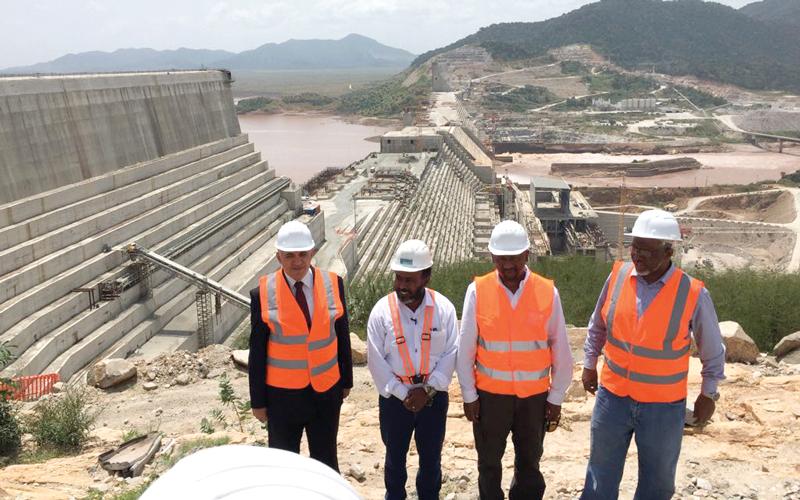 سد النهضة الذي تبنيه أديس أبابا على أحد روافد نهر النيل يؤثر في حصة مصر من المياه. أرشيفية