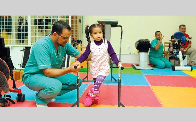 الصورة: «الشارقة الإنسانية»: 82% نسبة تحسن الأطفال أصحاب الهمم